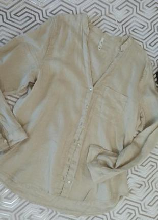 Chicoree/льняная рубашка- блуза цвета экрю