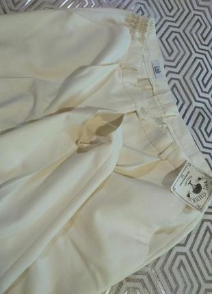 La belle брюки цвета экрю из стрейч- шерсти