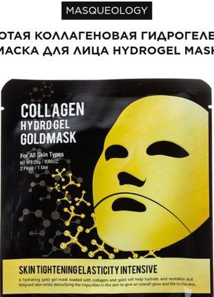 Masqueology золотая коллагеновая гидрогелевая маска для лица h...