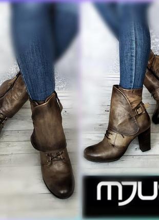 40р кожа новые италия mjus кожаные утеплены полусапожки ботинки