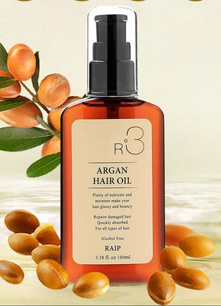 Аргановое масло для волос raip argan hair oil 100 мл