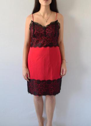Платье  с кружевом atm