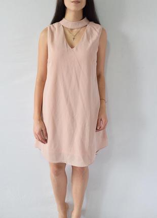 Платье с чокером apricot (новое, с биркой)