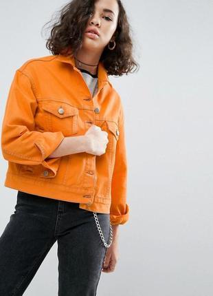 Джинсовая куртка персикового цвета bhs