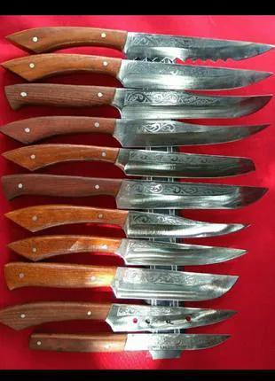 Ножи кухонные из нержавеющей стали 40х13 ручка дуба