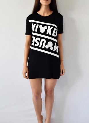 Платье-футболка с микки