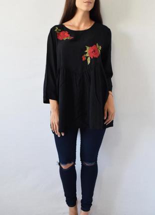 Блузка с вышивкой f&f