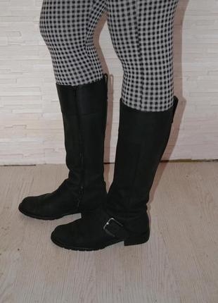 Кожаные высокие сапоги clarks
