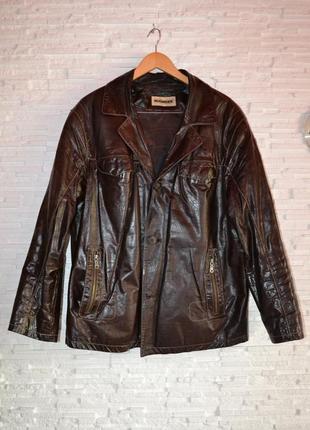 Мужская кожаная куртка лак nuomeier