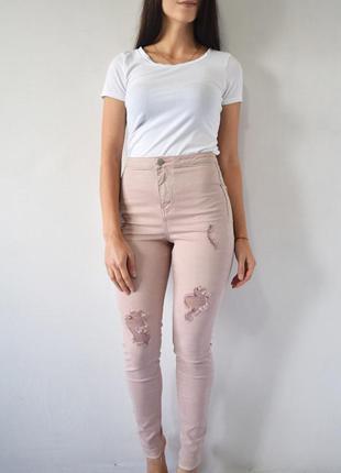 Розовые джинсы denim co