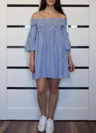 Платье в полоску (новое, с биркой) zara