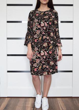 Платье в цветы (новое, с биркой) h&m