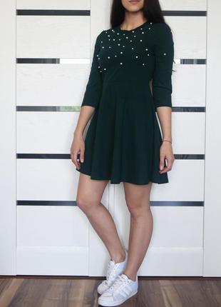 Платье с бусинками shein
