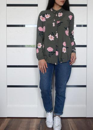 Блузка в цветы h&m