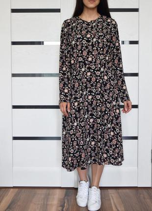 Платье в цветы m&s