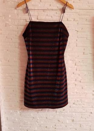 Обалденное блестящее платье на бретельках primark