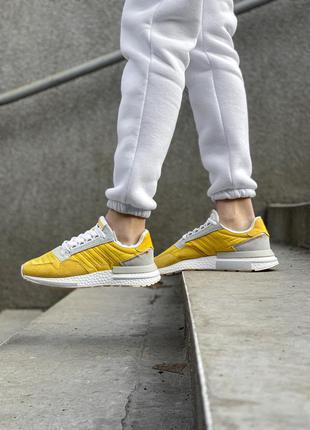 Adidas zx 500 yellow шикарные женские кроссовки адидас желтые