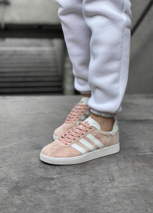 Adidas gazelle pink шикарные женские кроссовки адидас розовые