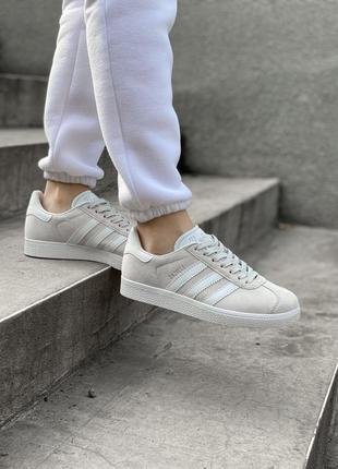 Adidas gazelle grey шикарные женские кроссовки адидас серые