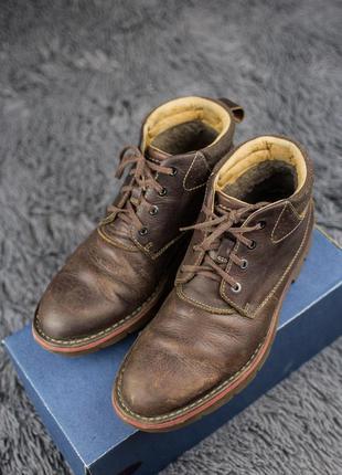 Мужские, кожаные ботинки clarks. демисезонные.
