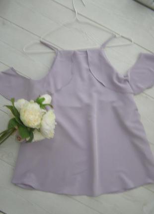 Актуальная блуза открытые плечи от new look королевский 18-размер