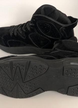 Высокие мужские кроссовки черные