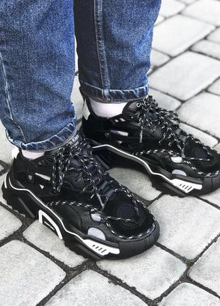 Calvin klein strike женские кроссовки черный цвет замш (весна-...
