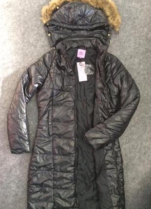 Пальто женское incity легкое на синтапоне черное инсити жіноче...