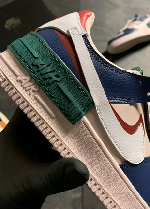 🔥 Nike Air Force 1 White Green Blue .
