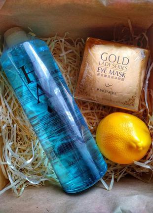Подарочный набор тонер крем для рук патчи под глаза