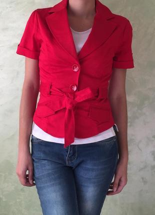 Красный пиджак orsay, размер s/xs, жилетка, безрукавка жакет ,...
