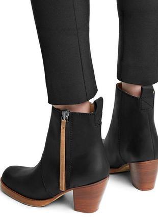 Acne studios оригинал италия дизайнерские черные кожаные ботин...