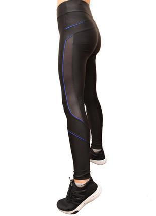Спортивные лосины для фитнеса,йоги,бега женские с высоким поясом