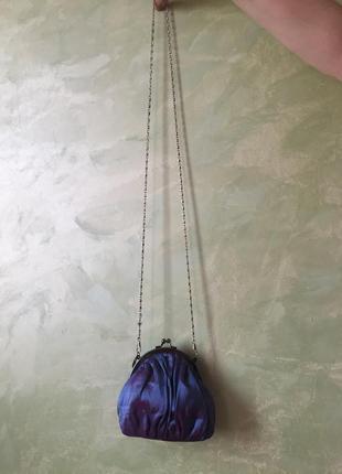 Нарядная сумка через плечо, клатч, фиолетовая