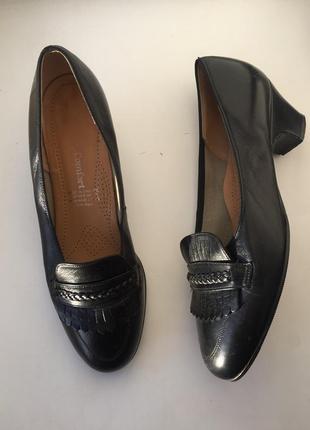 Кожаные туфли 38 размер comfort fashion, лоферы