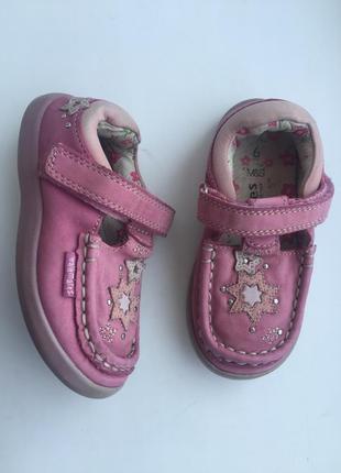 Кожаные мокасины на девочку 23 размер, 14,5 см, туфли walkmates