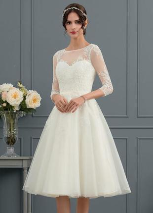 Свадебное платье jjshouse размер м-l, новое! весільна сукня дл...