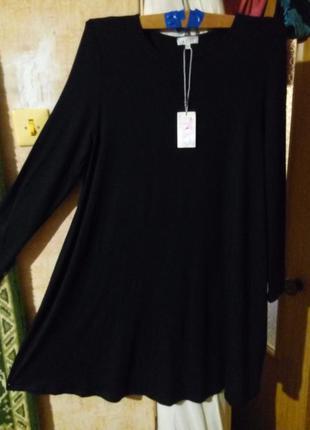 Cтильное черное платьице  для будущей мамы 44-46