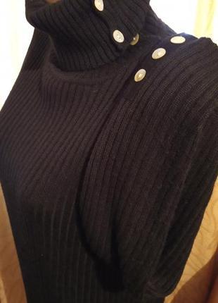 Шерстяной свитер гольф  с воротником-трансформером  fabiani ит...