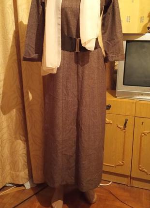 Теплое длинное платье в пол