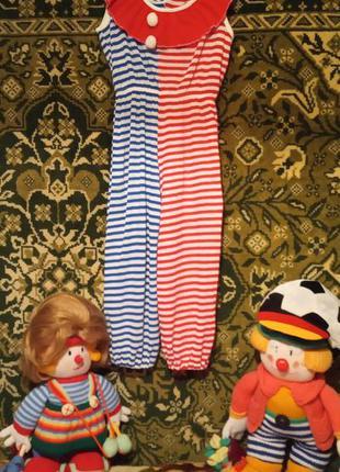 Карнавальный костюм для вечеринки рыжий клоун