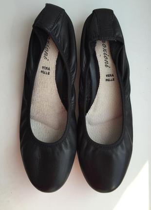 Кожаные балетки emozioni 38 размер туфли