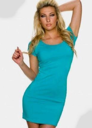 Теплое платье свитер с коротким рукавом