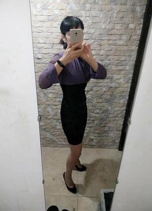 Платье комбинированное с завышенной талией пр фигуре