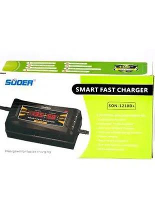 Автомобильное зарядное устройство для аккумулятора Suoer SON1210+