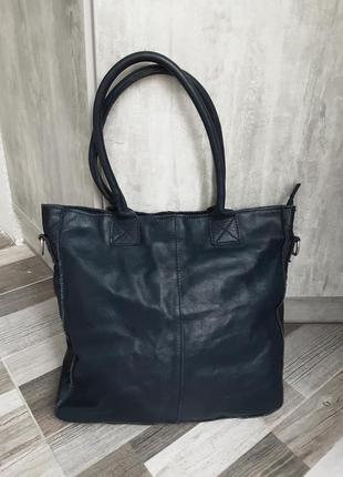 Кожаная сумка- шоппер borse in pelle