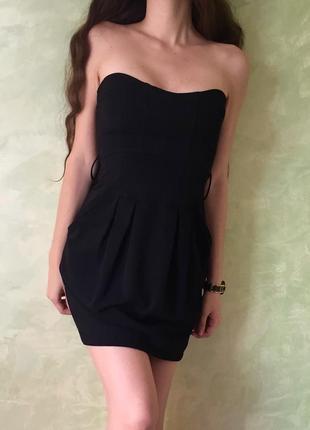 Стильное платье zara, размер s, черное платье/коктейльное/ веч...