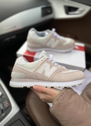New balance 574 pink шикарные женские кроссовки нью беленс роз...