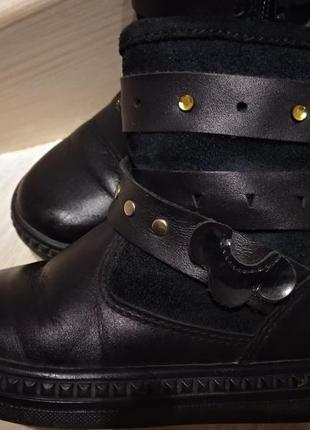 Ботинки демисезон кожа   замша . сапожки 24 р