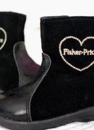 Ботинки для девочки 22 р.  fisher price.  сапожки шкіряні
